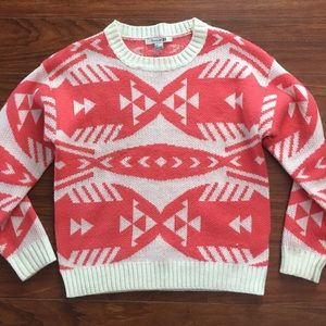 Chunky forever 21 geometric sweater